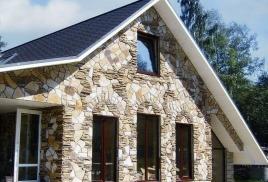 Отделка зданий искусственным и натуральным камнем